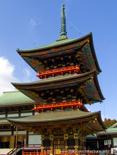 Naritasan Shinshoji Temple Three-Storied Pagoda in Narita City, Kanto